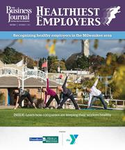 The cover of The Business Journal's Healthiest Employers awards section.