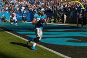 Panthers tight end Greg Olsen crosses into the end zone for a touchdown after making a catch on a big fourth-and-one play.