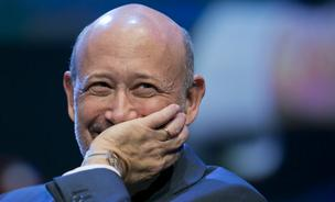 Lloyd Blankfein, chairman and chief executive officer of Goldman Sachs Group Inc., cracks a smile during an interview at the Investment Company Institute general membership meeting in Washington, D.C., in May.