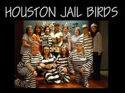 Munsch Hardt Kopf and Harr PC's Houston office dressed up as jail birds.