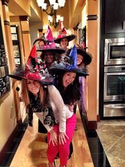 The staff at the Newmark Homes Design Center showed their bewitching creativity on Halloween, decorating fabulous witches hats. Pictured front to back are Angela Hobdy, Kalyn Machupa, Sharon Stowers, Cindy Messina-Leary and Christie Blansitt. The facility recently won the Design Center of the Year award for a fourth consecutive year from the Greater Houston Builders Association.