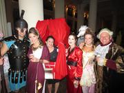 Granite Properties' ladies and friends/spouses celebrated Halloween at the Easter Seals BASH at the Corinthian. From left, Lance McLeod, Kristi McLeod, Missi Scott, Deena Bakri, Charlotte Young and Dan Sherwin.