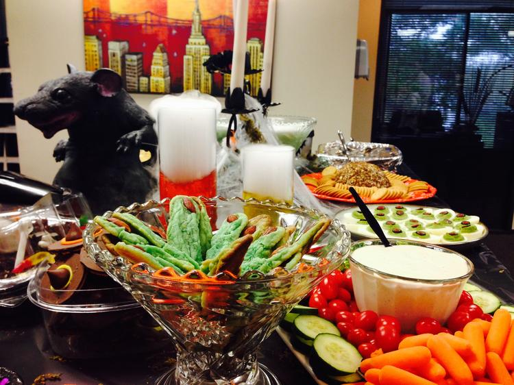 Tarantino Properties Inc. made lots of spooky snacks for the Halloween party.  Click through the slideshow to see more photos from Houston-area Halloween celebrations.