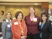From left, Kim Fried of BB&T, Joanne Petillo of Schnabel Engineering, Jennifer Perkins of Arnold & Porter and Barbara Wachter Needle of Reno & Cavanaugh.