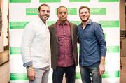 From left, Washington Redskins player Reed Doughty, Benetton Executive Vice President and Chief Financial Officer Michael Pickrum and Top Chef's Spike Mendelsohn.