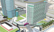 These portions, which include the retail, residential and a hotel/convention center, will be built after the Orlando Police headquarters is vacated.