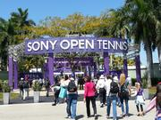 Visitors were bustling through the entrance of the Sony Open Tennis tournament Wednesday morning. The matches were just beginning.