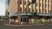 A daytime rendering of the JPMorgan Chase & Co. branch planned for Downtown Jacksonville's Life of the South building.