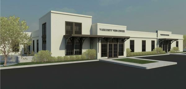 A rendering of the redeveloped building in downtown Homewood.