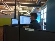 Many of Vigilent's employees use desks that can convert easily from sitting to standing.