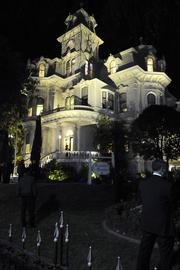 The historic Governor's Mansion got a facelift with new exterior lighting and restoration of the third floor.