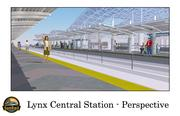 Rendering of the southbound platform at Lynx Central Station.