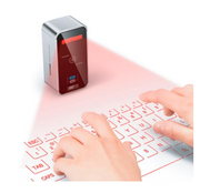 Celluon  This Seoul-based company offers up a projection keyboard. Yup, you don't have to tap out an email awkwardly on your iPad - instead, you find a flat surface and set up a virtual keyboard.