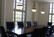 The boardroom at First Partners Bank's new location at 2121 Highland Avenue.