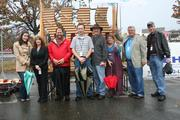 A team of staffers from the city's Corporate Communications & Marketing department won second prize in Environmental Holdings Group's Eastland Memories contest. Shown here, from left to right, are Kelly Setzer, Sherry Bauer, David Little, Rodney Dove, Dan Hayes, Nancy Ryan, Kevin Ryan, Steve Rogers. Not shown from the winning team is Doc Russell who worked on production of the video that won the award.