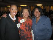 "The Washington Area Women's Foundation assembled nearly 1,000 women (and ""guys who get it"") Oct. 23 at the Grand Hyatt Washington for its annual Leadership Luncheon. Pandit Wright of Boys & Girls Clubs of Greater Washington, center, with Kelly Brinkley, left, and Rosie Allen-Herring of the United Way of the National Capital Area."