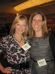 Abby Fenton of WJLA, left, with Veronica Nolan of the Urban Alliance.