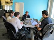 The space was designed for collaboration.