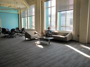 Vigilent's new space features large windows that bring in lots of natural light.