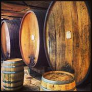 Huge oak barrels age the Livermore Valley wines