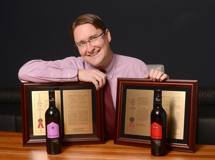 Patterson Thuente Pedersen Partner Kyle Peterson and his family own WineHaven Winery in Chisago City. He has been developing cold-hardy grapes for more than two decades.