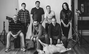 The Stocksy team, led by Bruce Livingstone (back row, second from right), hopes to give stock photography a good name.