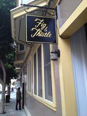 Fig & Thistle, a wine bar, recently opened across the street from soon-to-open 300 Ivy town homes and condos in San Francisco's Hayes Valley.