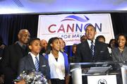 Patrick Cannon, just elected as the next mayor of Charlotte, gives his acceptance speech.