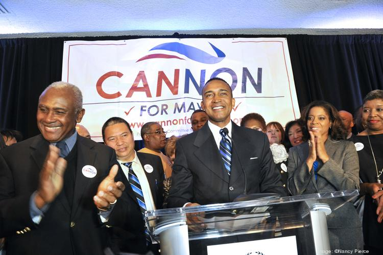 Patrick Cannon, a Democrat, was elected Tuesday as mayor of Charlotte. Flip through these slides for a look at the election-night gatherings for him and his Republican opponent, Edwin Peacock.
