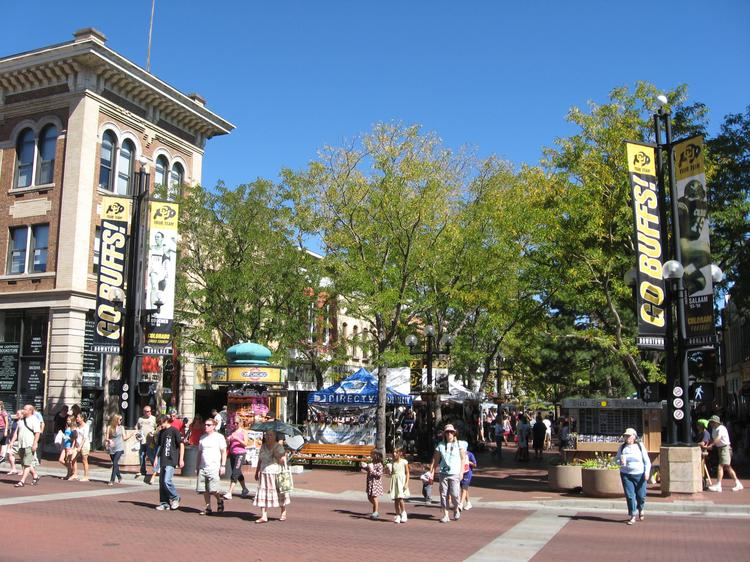 The Pearl Street Mall in Boulder.