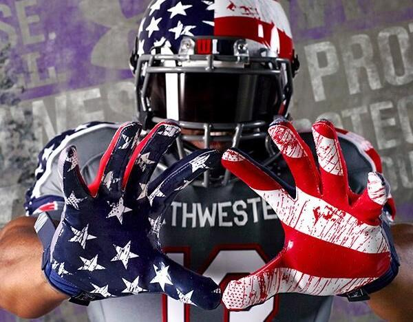 Under Armour has drawn controversy for these uniforms Northwestern University is scheduled to wear against Michigan on Nov. 16.