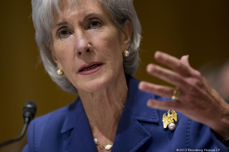 HHS Secretary Kathleen Sebelius testifies about HealthCare.gov at a Senate Finance Committee hearing Wednesday.