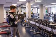 The robotic arm augments arm strength by 40 pounds