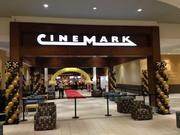Interior facade of the new CineMark theater in the former space of JC Penney at Monroeville Mall.