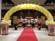 Balloon gateway for grand opening celebration