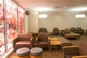 The new tower has a secluded waiting room for patients' families. They previously waited for news in a high-traffic area, near eateries and an entrance.