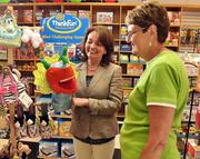 The Toy Maker owner Linda Ambrosino (left) with employee Bonnie Premo