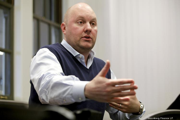 Marc Andreessen, co-founder of Andreessen Horowitz, told the Wall Street Journal that he isn't worried about a tech investment bubble happening right now.