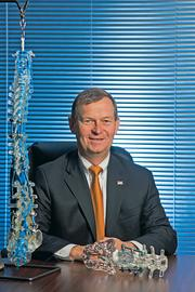 Ulrich Medical USA's Hans Stover said hospitals are tightening their belts when it comes to medical devices.