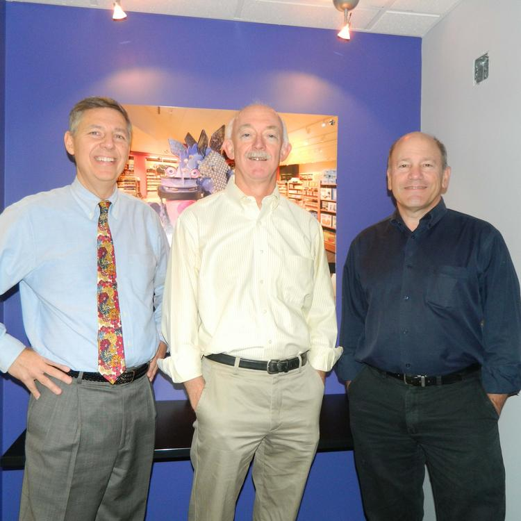 From left: David Franke, Jim Rowe and Ted Agoos of Agoos/Lovera Architects