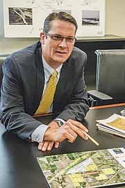Darrell Coffey, director of economic development for BNSF Railway Co., talks about the growth to be spurred by the  intermodal facility at Logistics Park Kansas City in Edgerton.