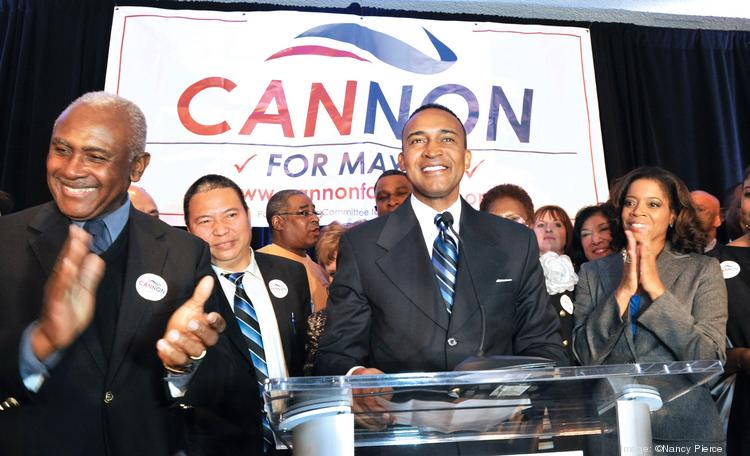 Cannon won election last month to be Charlotte's new mayor.