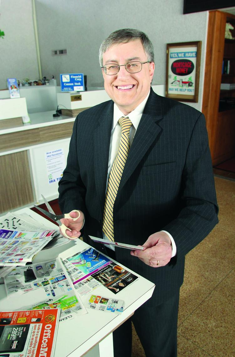 WVS Financial Corp. CEO David Bursic and his employees clip office supply coupons from newspapers and fliers.