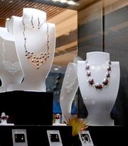This jewelry display is just the thing for a businessman shopping for the anniversary he forgot. But will he find it in the mall or the airport? The answer key is on the next page.