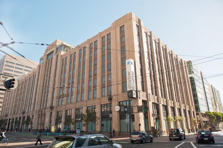 Twitter's headquarters at 1355 Market St.: The social media firm's 2011 lease jump-started the  Mid-Market renaissance.