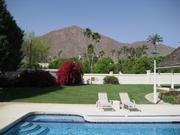A view of Camelback Mountain from the patio of Nordon Manor.