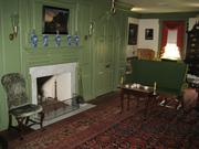 One of the two living rooms in the manor that were inspired by a colonial era Pennsylvanian farmhouse.