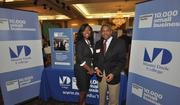 Anna Etienne and John Hall of Miami Dade College, the nation's largest college.