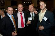 Having a good time at the Boston Business Journal's Power 50 event at the Boston Harbor Hotel were Derrick DeLuties of Lunchpail Productions, Nick Lowe of 451 Marketing, Eran Loble of Element, and Nate Robillard of The Ad Club.