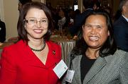 Zorica Pantic of Wentworth Institute of Technology with First Eastern Mortgage's Mealea Chan-Polcari at the Boston Business Journal's Power 50 event at the Boston Harbor Hotel.